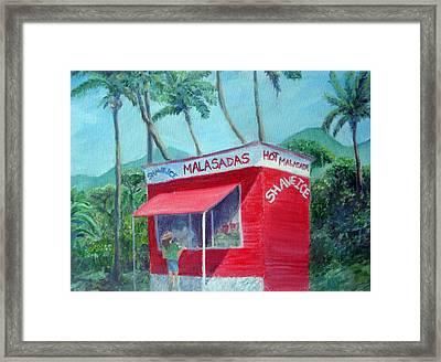 Malasada Stand Framed Print by Mike Segura