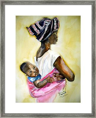 Malawian Mother Framed Print by Shirley Roma Charlton