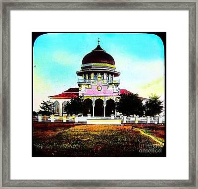 Malay Mosque Singapore Circa 1910 Framed Print