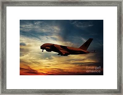 Malaysian Airways Airbus A380 Framed Print