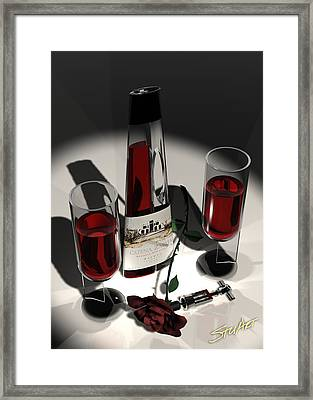 Malbec Wine - Romance Expectations Framed Print