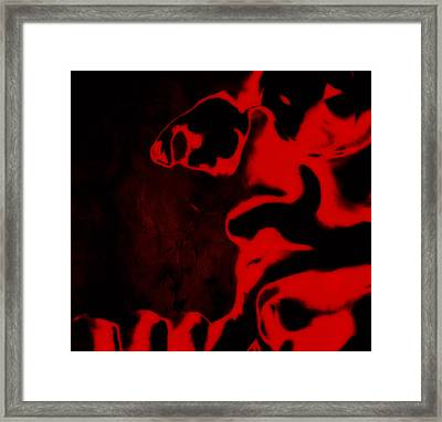 Malclm X Red Framed Print by Brian Reaves