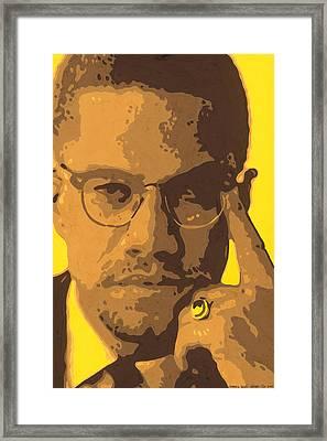 Malcolm El Afroxicano Framed Print by Roberto Valdes Sanchez