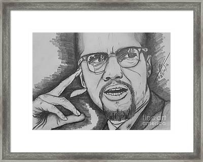 Malcolm Little   X  Framed Print