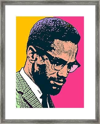 Malcolm X 2 Alt Framed Print by Otis Porritt