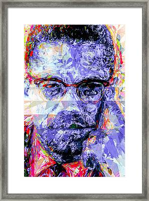 Malcolm X Digitally Painted 1 Framed Print