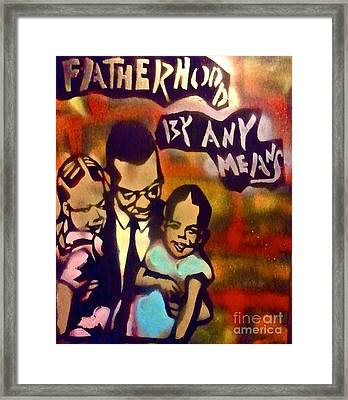 Malcolm X Fatherhood 2 Framed Print by Tony B Conscious