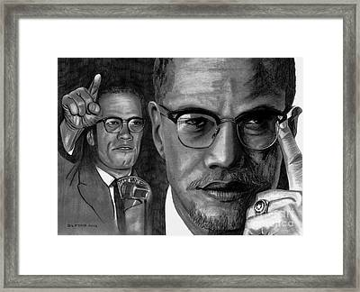 Malcolm X Framed Print by Gil Fong