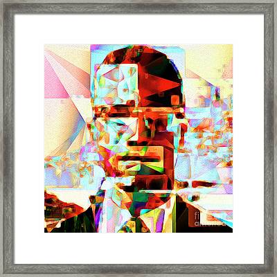 Malcolm X In Abstract Cubism 20170329 Square Framed Print
