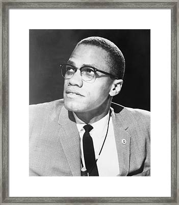 Malcolm X, Militant Black Muslim Civil Framed Print by Everett