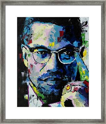 Malcolm X Framed Print by Richard Day