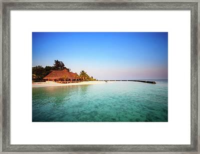 Maldives Morning Framed Print