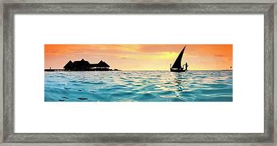 Maldivian Dream Framed Print by Sean Davey