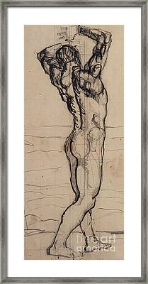 Male Act   Study For The Truth Framed Print