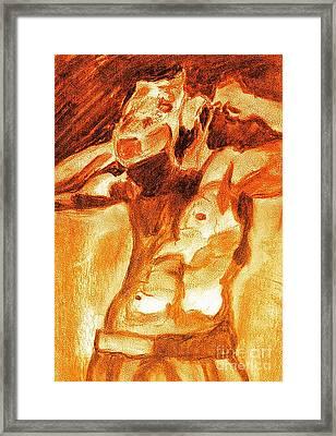 Male Boxer Framed Print by Kim Wilcox