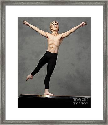 Male Dancer Framed Print by Vickie Arentz