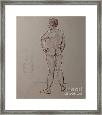 Male Life Drawing Framed Print