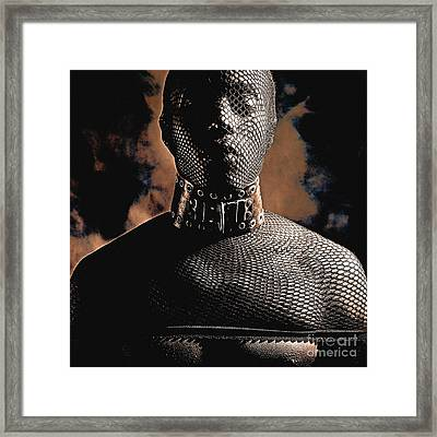 Male Masked Framed Print