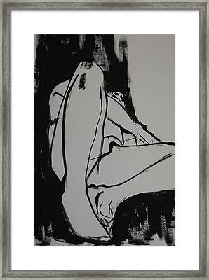 Male Model Framed Print by Joanne Claxton