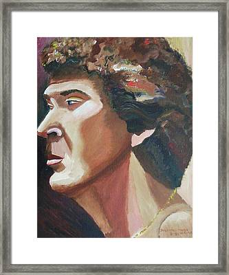 Male Model My Favorite Framed Print by Suzanne  Marie Leclair
