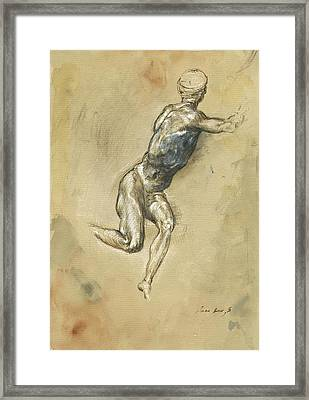 Male Nude Figure Framed Print