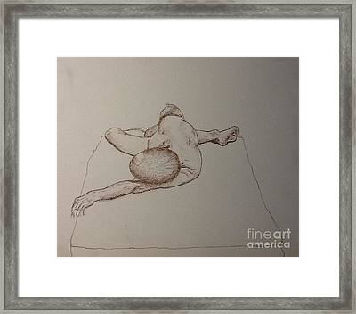 Male Nude Life Drawing Framed Print