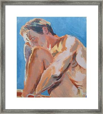 Male Nude Painting Framed Print