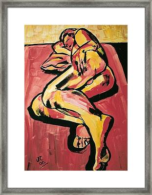 Male Nude Reclining Framed Print