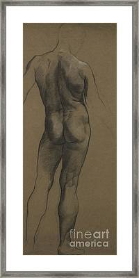 Male Nude Study Framed Print by Evelyn De Morgan