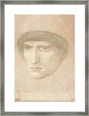 Male Portrait  Framed Print
