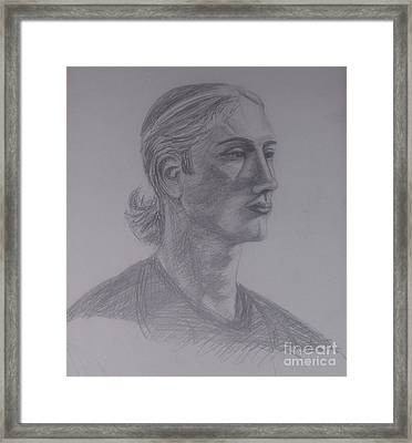 Male Portrait Sketch Framed Print