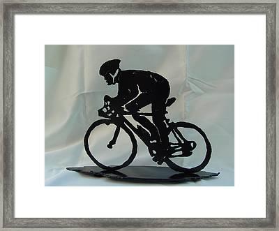 Male Road Racer Framed Print by Steve Mudge