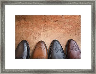 Framed Print featuring the photograph Male Shoes by Andrey  Godyaykin