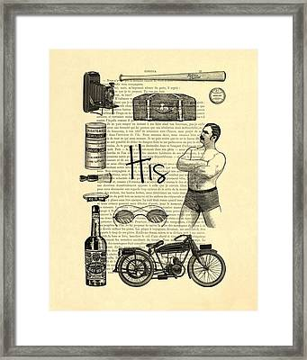 Male Wedding Gift Framed Print
