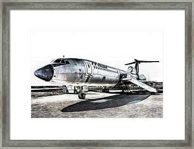 Malev Airlines Tupolev Tu-154 Art Framed Print