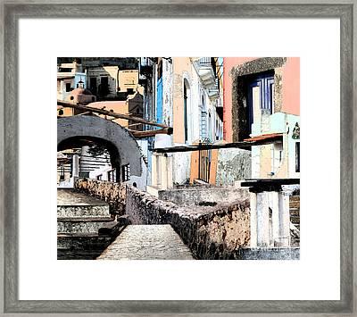 Malfa Elevations Framed Print by Ayesha DeLorenzo