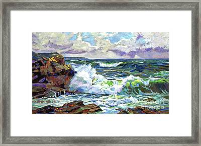 Malibu Cove Framed Print by David Lloyd Glover