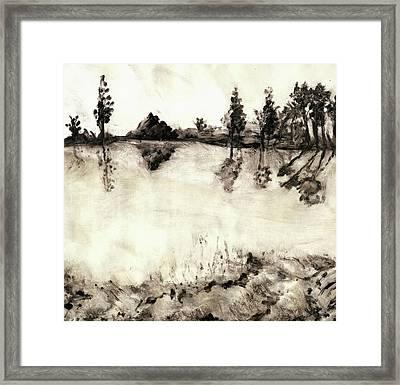 Malibu Lake Mono Print Framed Print by Randy Sprout
