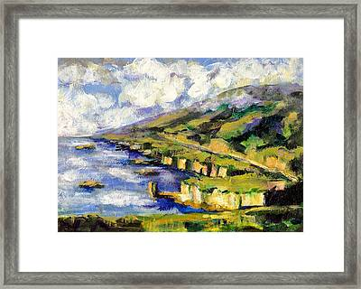 Malibu Looking North Framed Print by Randy Sprout