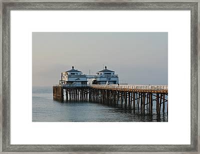 Malibu Pier 2 Framed Print by Fraida Gutovich