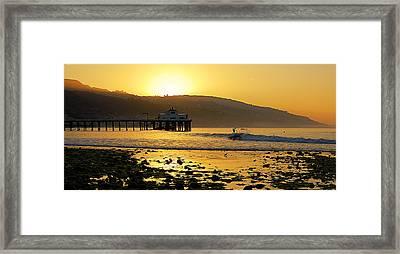 Malibu Rider Framed Print