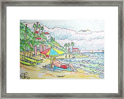 Malibu Framed Print by Robert Findley