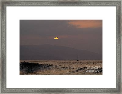 Malibu Sunrise Framed Print by Marc Bittan