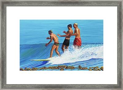 Malibu Trandum Framed Print by Michael Knowlton