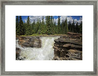 Framed Print featuring the photograph Maligne Canyon by Patricia Hofmeester