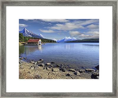 Maligne Lake -- Jasper Alberta Canada Framed Print by Daniel Hagerman