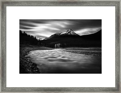 Maligne River Autumn Framed Print