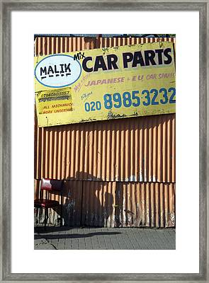 Maliks Parts Framed Print by Jez C Self