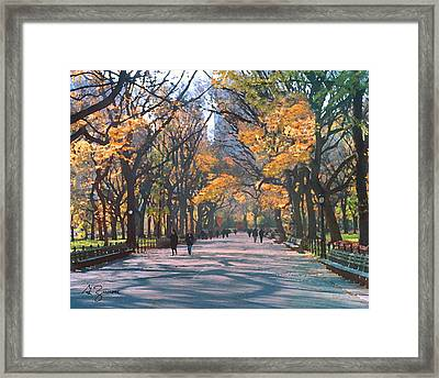Mall Central Park New York City Framed Print by George Zucconi