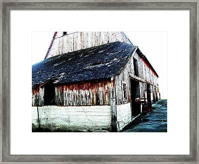 Mallard Barn Framed Print by Julie Hamilton